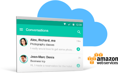 cloud messaging app